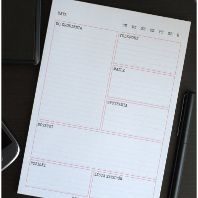 planner dzienny - format A5