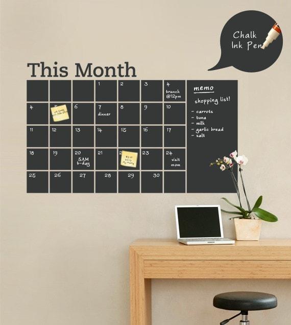 tablica - miesiąc - etsy