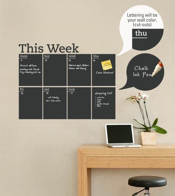 tablica - tydzień - etsy