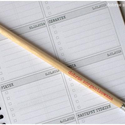 ołówek 2 - dobrze zorganizowana