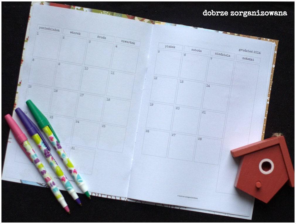 planner świąteczny - kalendarz - dobrze zorganizowana 3