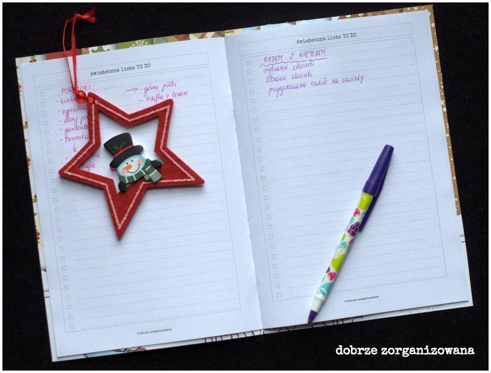 planner świąteczny - lista TODO- dobrze zorganizowana 4