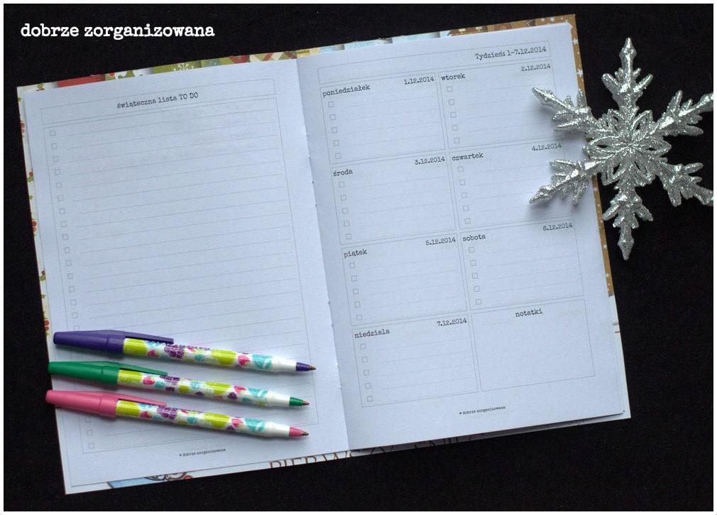 planner świąteczny - lista TODOikalendarz tygodniowy - dobrze zorganizowana 5