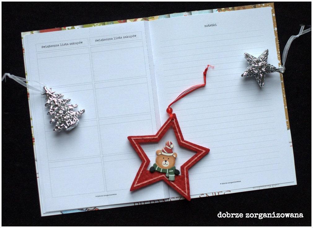 planner świąteczny - lista zakupów inotatki - dobrze zorganizowana 9