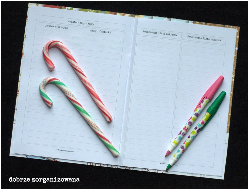 planner świąteczny - potrawy ilista zakupów - dobrze zorganizowana 8