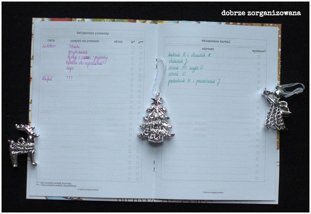 planner świąteczny - prezenty ikartki - dobrze zorganizowana 6