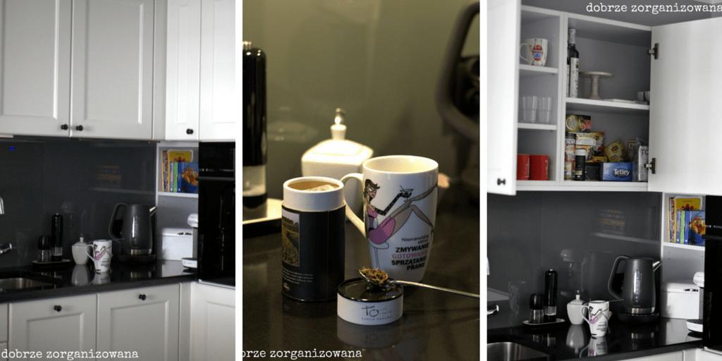 kącik kawowo-herbaciany - dobrze zorganizowana