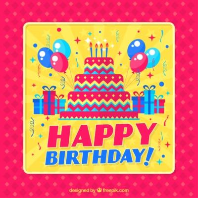 grafika urodzinowa designed byfreepik.com