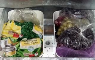 mrożenie - pojemniki na warzywa i owoce - dobrze zorganizowana