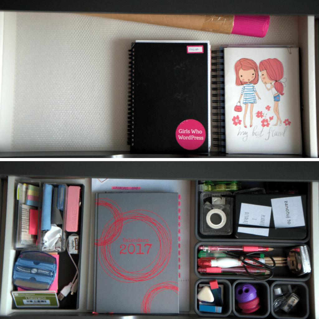 odsłona mojegodomowego biura - szuflady - dobrze zorganizowana